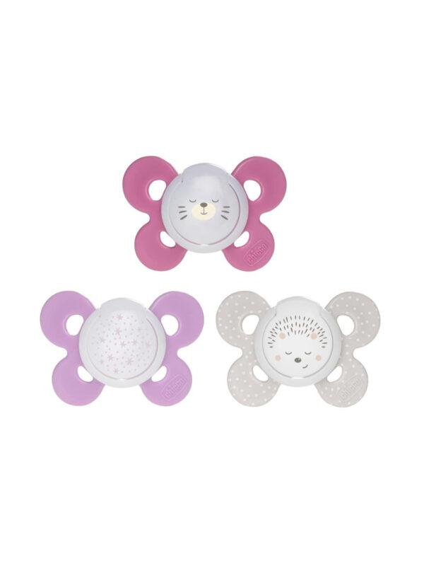 Succhietto Comfort Night Girl silicone 16-36 mesi 2 pz - CHICCO - Ciucci