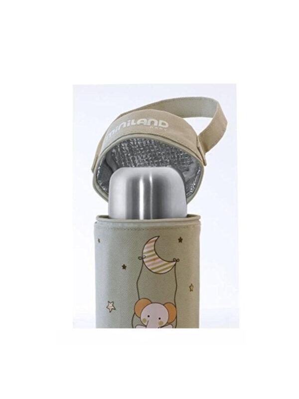Borsa termica per biberon 0,50 lt beige - MINILAND - Accessori Pappa e Allattamento