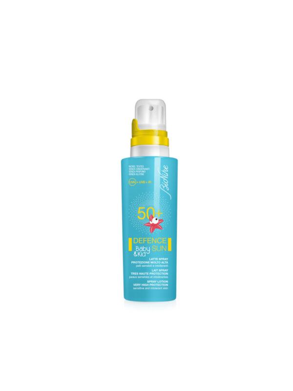 Latte solare spray 50+  125ml - BIONIKE - Cura e cosmesi bambino