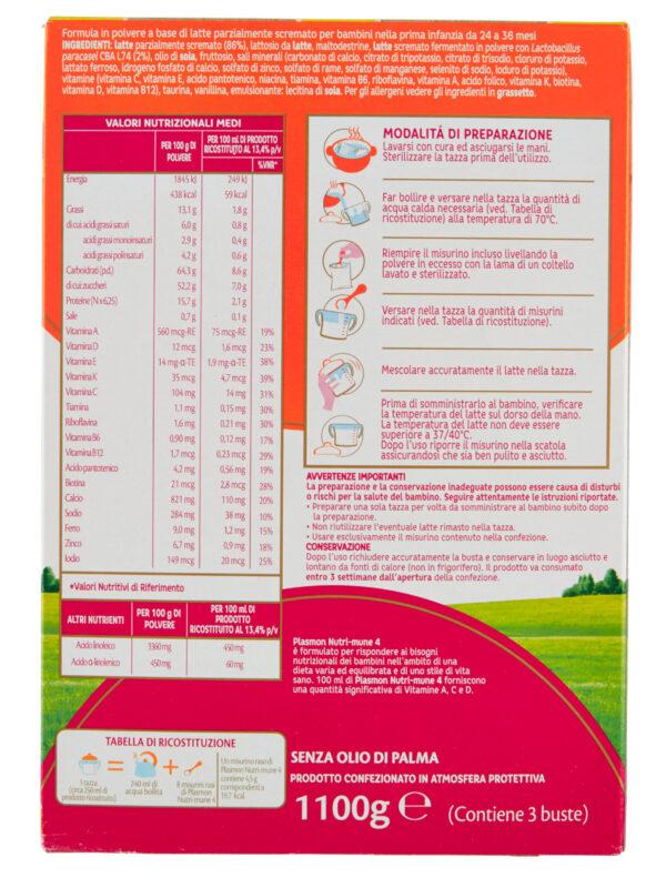 Plasmon Nutri-mune 4 Latte in Polvere Stage 4 - 1100g - Plasmon - Latte crescita 3-4-5