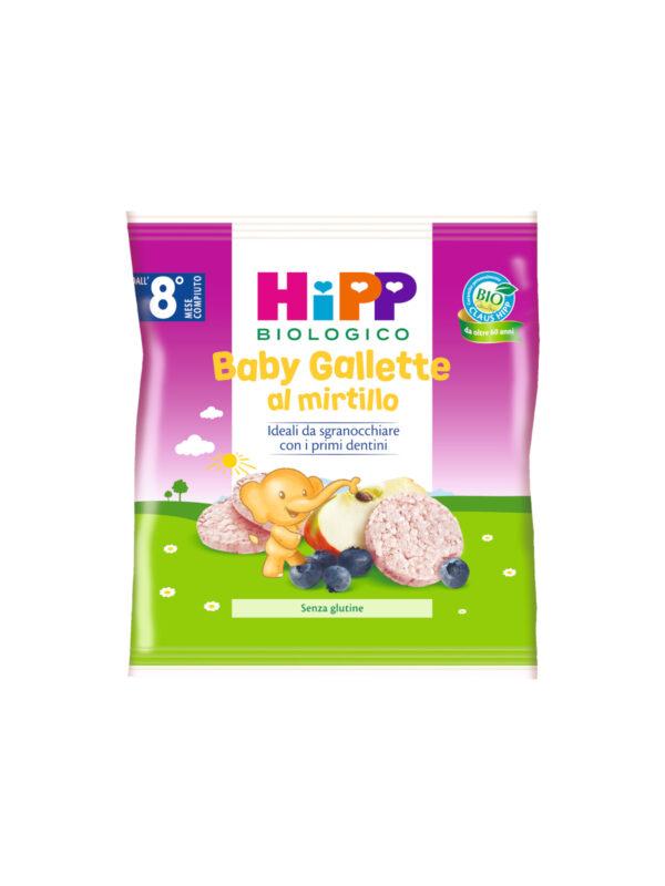 Baby Gallette di riso al Mirtillo 30g - HiPP - Snack per bambini