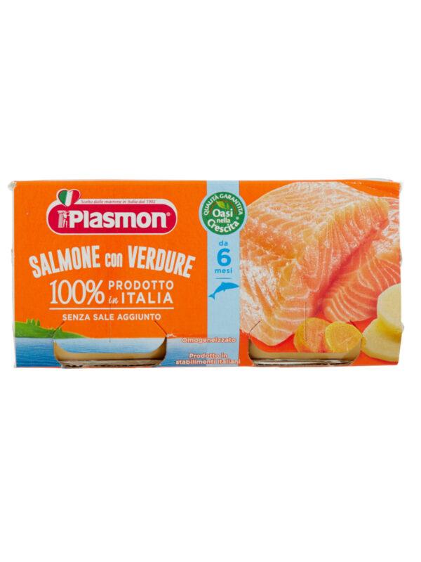 Plasmon - Omogeneizzato Salmone - Verdure - 2x80g - Plasmon - Omogeneizzato pesce