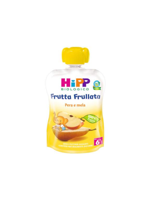 Frutta frullata Pera e mela 90g - HiPP - Merende da bere