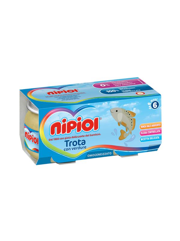 Nipiol - Omogeneizzato Trota - 2x80g - Nipiol - Omogeneizzato pesce