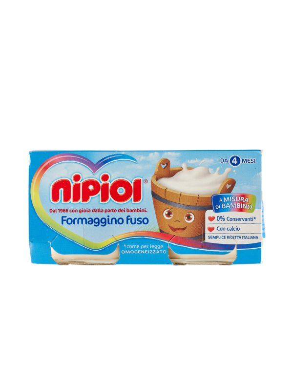 Nipiol - Omo Formaggino - 2x80g - Nipiol - Omogeneizzato formaggio