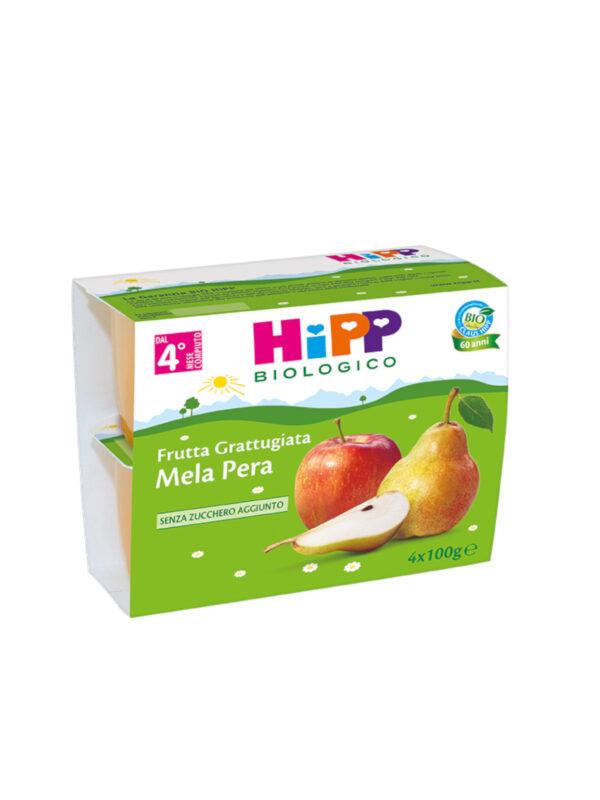 Frutta grattugiata Mela e pera 4x100g - HiPP - Frutta frullata