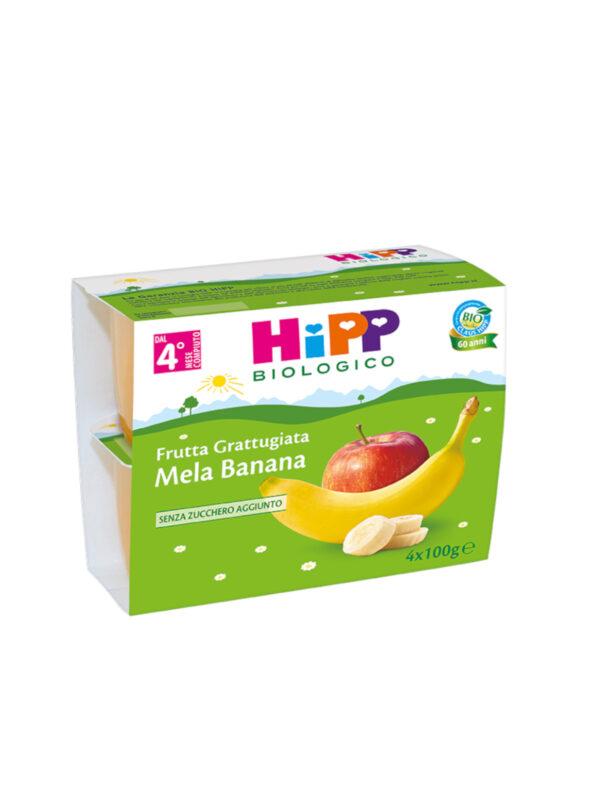 Frutta grattugiata Mela e banana 4x100g - HiPP - Frutta frullata