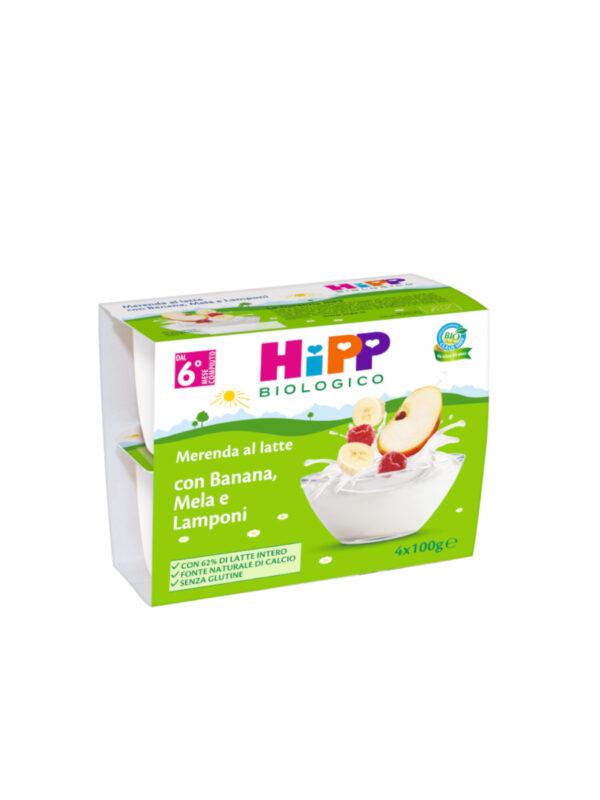 Merenda Latte Mela, Banana, Lampone 4x100g - HiPP - MERENDE PER BAMBINI