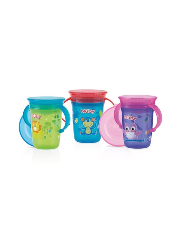 Tazza con manici 360° Wonder CUP 240 ml 6m+   <strong>Colori assortiti</strong> - NUBY - Accessori Pappa e Allattamento