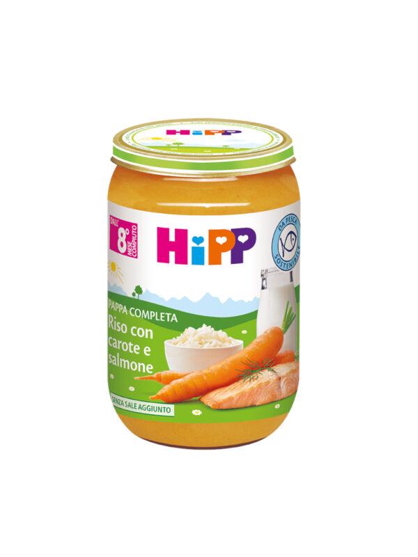 Pappa pronta Riso, carote e salmone 220g - HiPP - Pappe complete