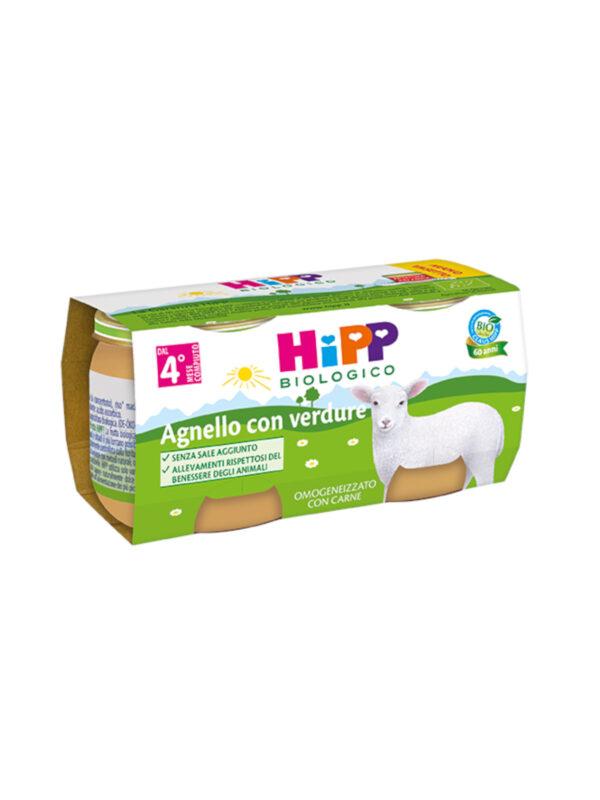 Hipp - Omogeneizzato Agnello con verdure 2x80g - HiPP - Omogeneizzato carne