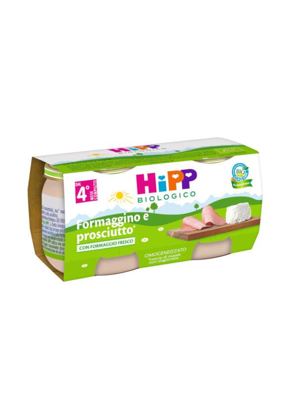 Hipp - Omogeneizzato Formaggino e prosciutto 2x80g - HiPP - Omogeneizzato formaggio