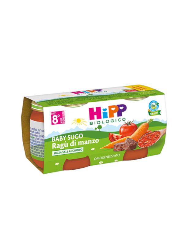 Hipp - Omogeneizzato Sughetti ragù di manzo 2x80g - HiPP - Riso e sughi per bambini