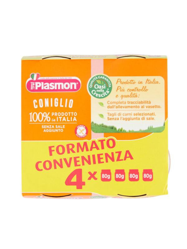 Plasmon - Omogeneizzato Coniglio - 4x80g - Plasmon - Omogeneizzato carne