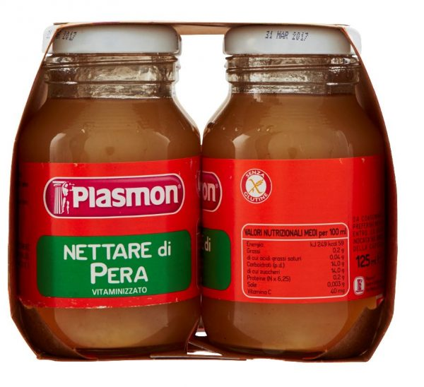 Plasmon - Nettare di Pera - 4x125ml - Plasmon - Frutta frullata