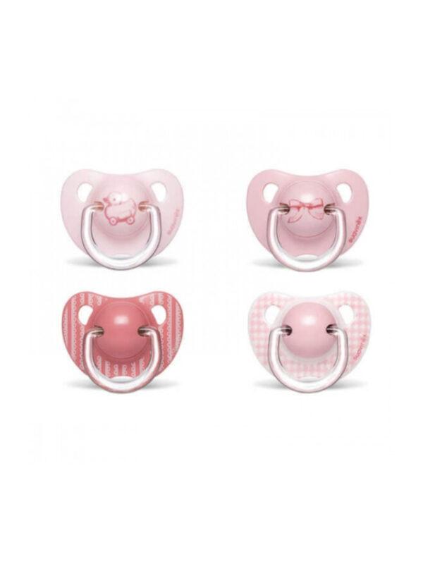 Succhietto Evolution anatomico silicone 6m+ rosa - 2 pz <strong>Colori assortiti</strong> - SUAVINEX - Ciucci