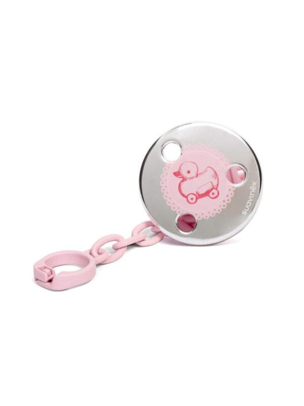 Catenella portasucchietto gioiello rosa - SUAVINEX - Ciucci