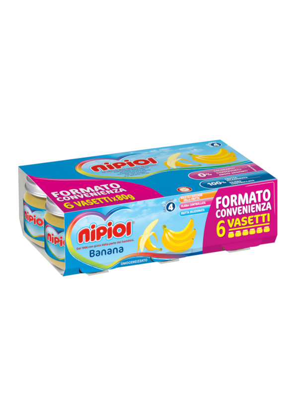 Nipiol - Omogeneizzato Banana - 6x80g - Nipiol - Omogeneizzato frutta