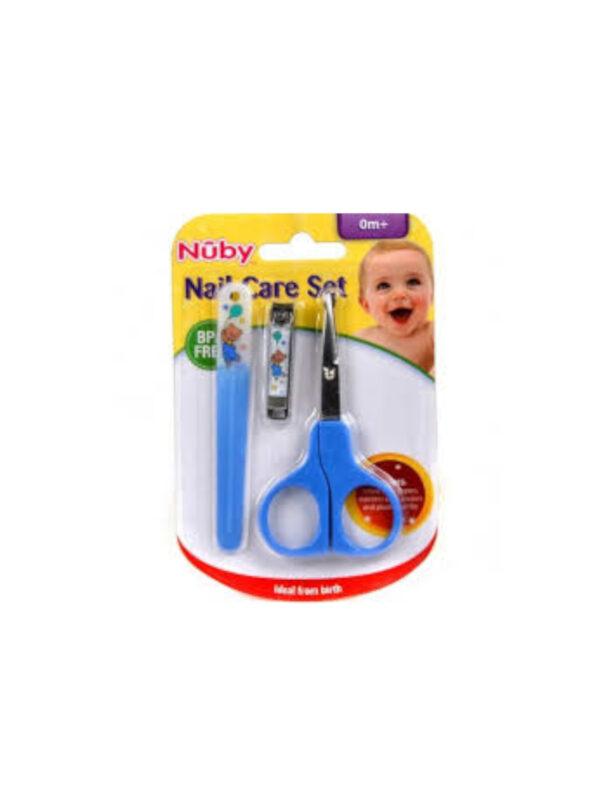 Set manicure: forbicina, limetta e taglia unghie  <strong>Colori assortiti</strong> - NUBY - Cura e cosmesi bambino