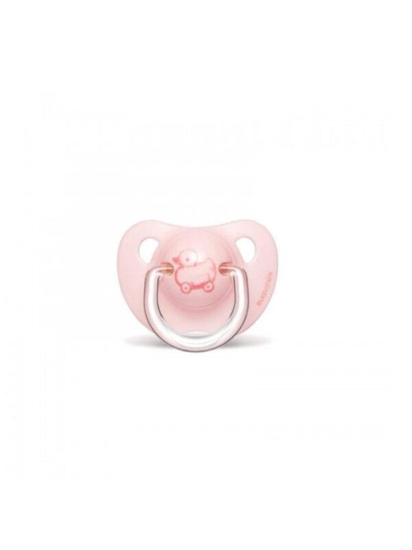 Succhietto Evolution anatomico silicone 0-6m Rosa 1 pz  <strong>Colori assortiti</strong> - SUAVINEX - Ciucci