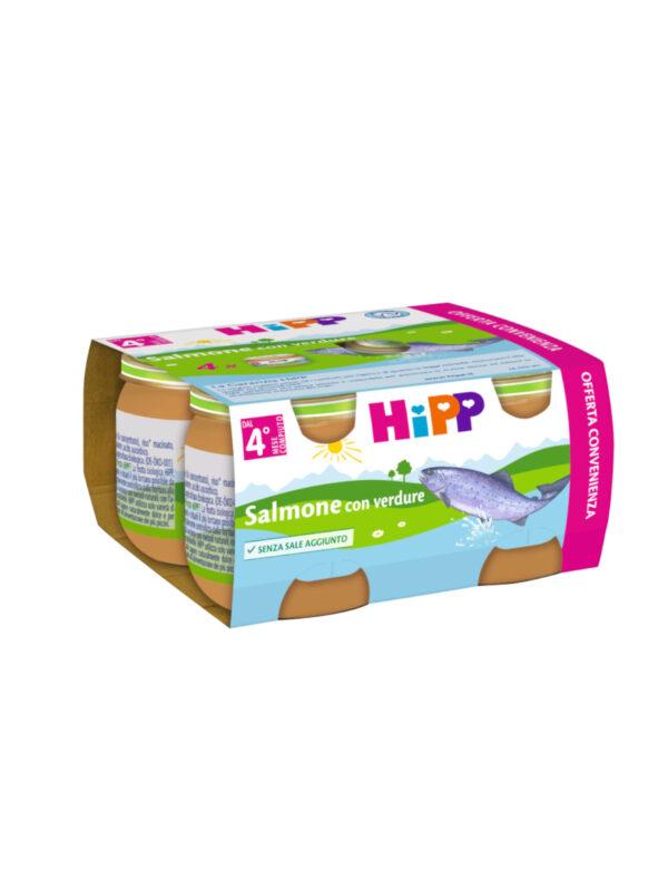Omogeneizzato Salmone con verdure 4x80g - HiPP - Omogeneizzato pesce