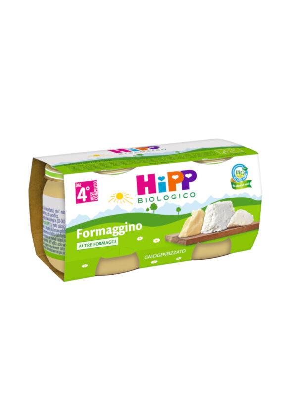 Omo Formaggino ai tre formaggi 2x80g - HiPP - Omogeneizzato formaggio