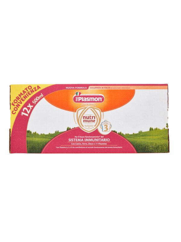Plasmon Nutri-mune 3 Latte Liquido Stage 3 - 12x500ml - Plasmon - Latte crescita 3-4-5