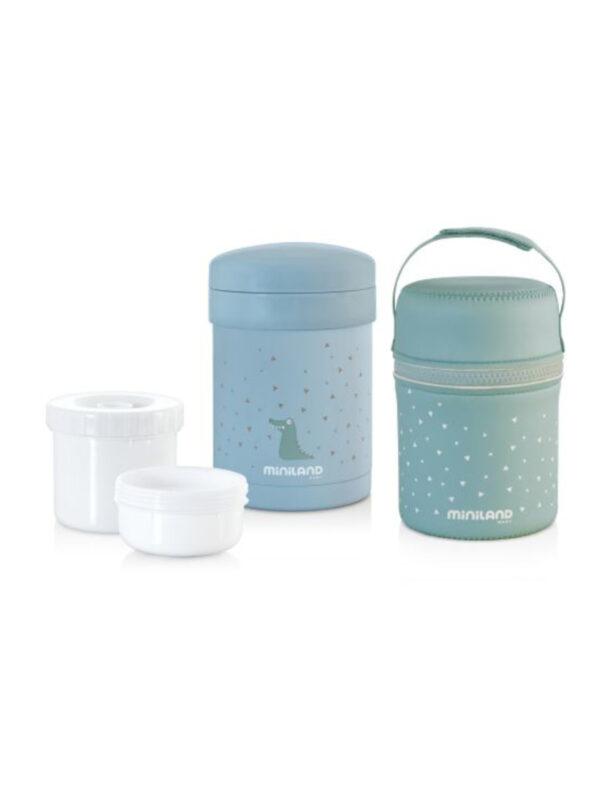 Portapappa e alimenti solidi 700 ml blu - MINILAND - Accessori Pappa e Allattamento