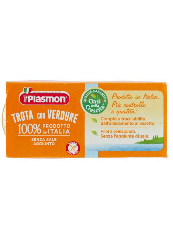 Plasmon - Omogeneizzato Trota - Verdure - 2x80g - Plasmon - Omogeneizzato pesce