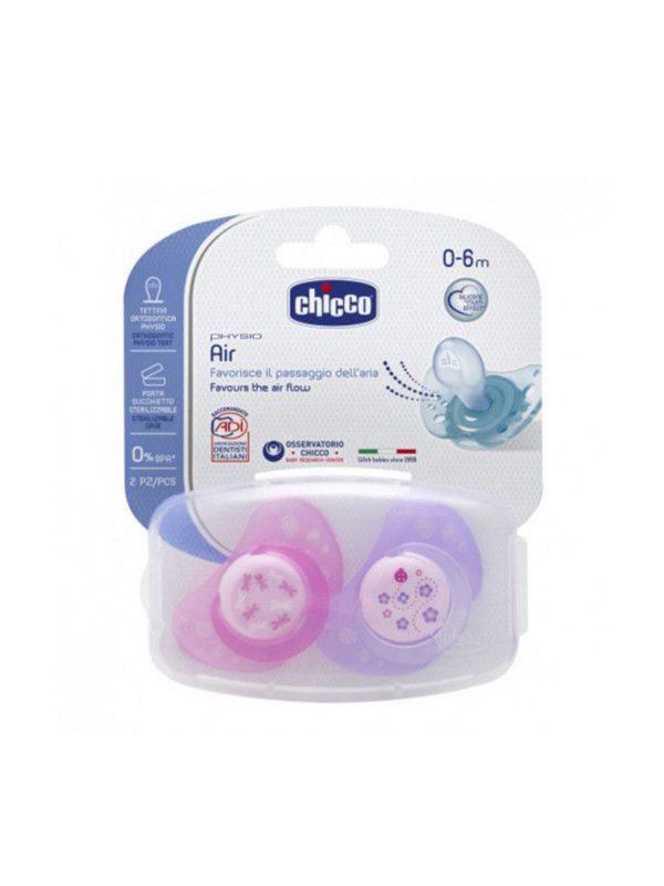 Succhietto Air Girl silicone 0-6 mesi 2 pz - CHICCO - Ciucci