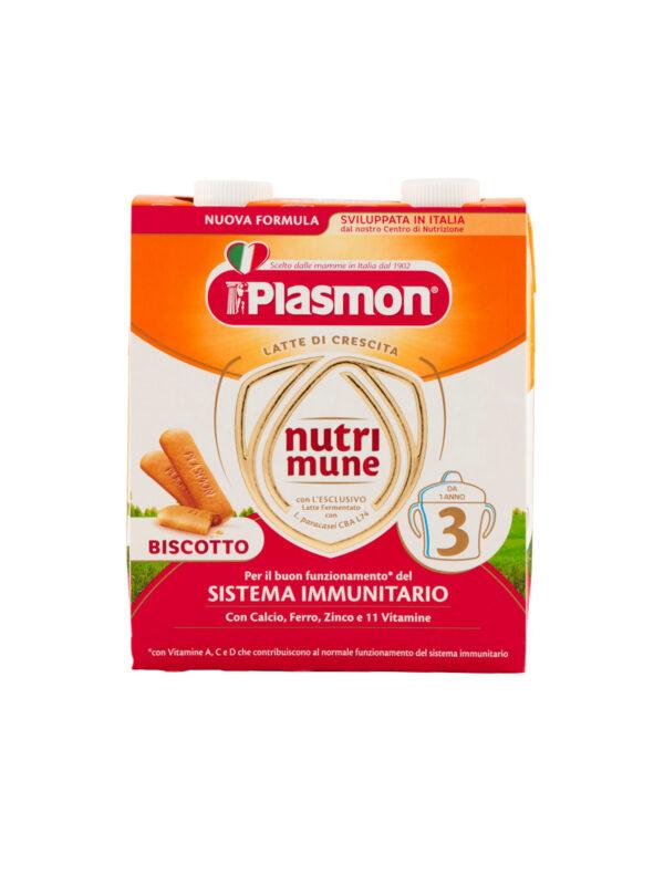Plasmon Nutri-mune 3 Latte Liquido al Biscotto Stage 3 - 2x500ml - Plasmon - Latte crescita 3-4-5