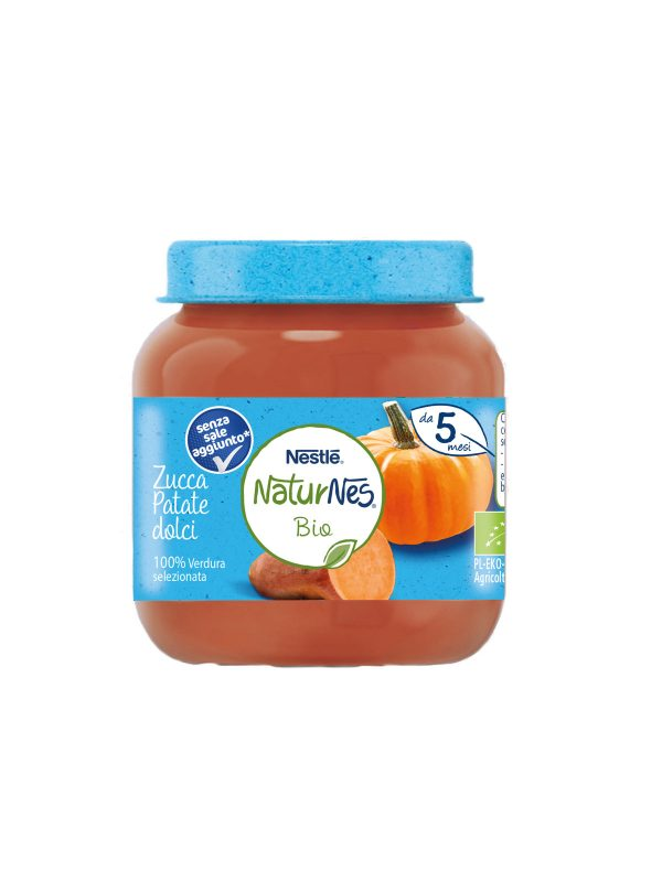 NATURNES - Omogeneizzato zucca patate dolci 125 gr - NATURNES BIO - Omogeneizzato verdure