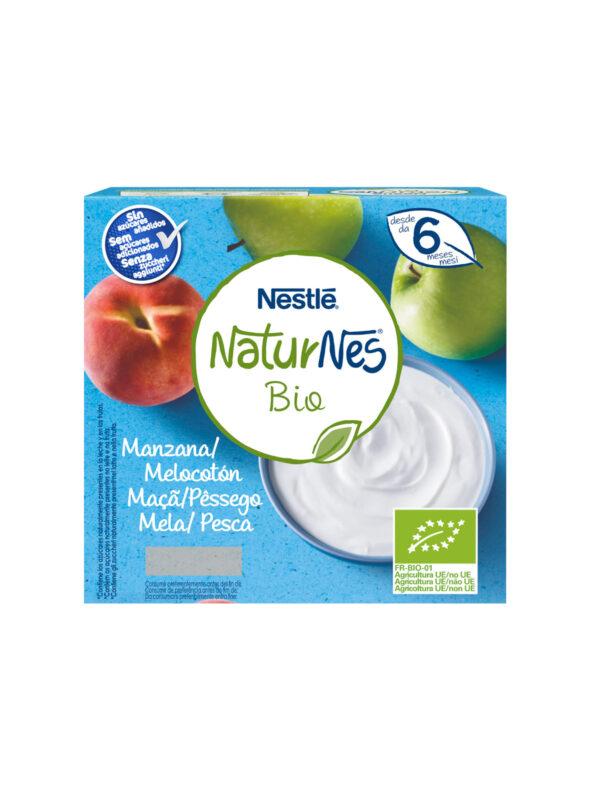NATURNES - Merenda al latte mela pesca  90 gr - NATURNES BIO - Yogurt e budini per bambini