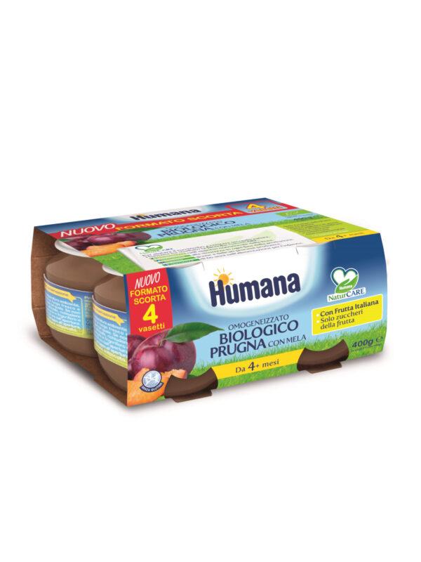 HUMANA omogeneizzato prugna biologico 2x100 gr - HUMANA - Omogeneizzato frutta