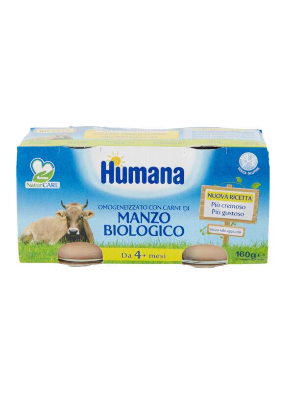 HUMANA omogeneizzato manzo biologico 2x80 gr - HUMANA - Omogeneizzato carne