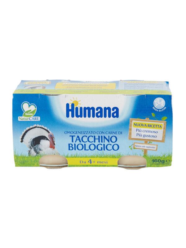 HUMANA omogeneizzato tacchino biologico  2x80 gr - acquisto minimo 12 vasetti - HUMANA - Omogeneizzato carne