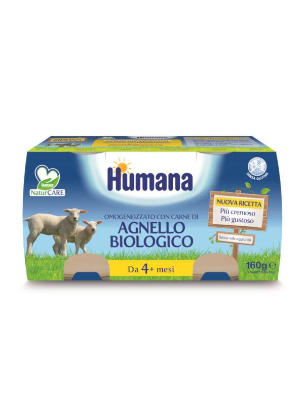 HUMANA omogeneizzato agnello biologico  2x80 gr - acquisto minimo 12 vasetti - HUMANA - Omogeneizzato carne