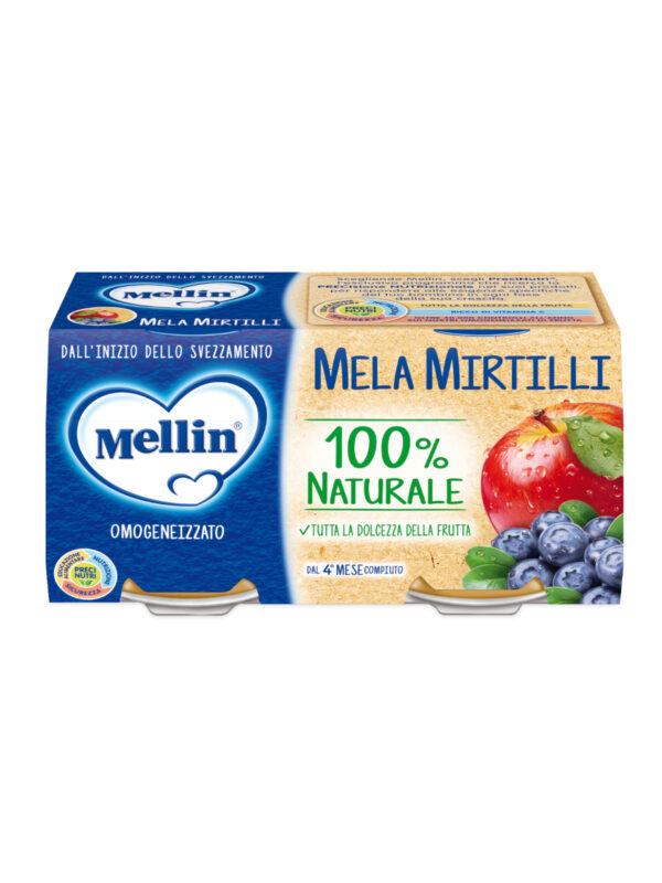 MELLIN Omogeneizzato mela mirtillo 2x100 gr - MELLIN - Omogeneizzato frutta