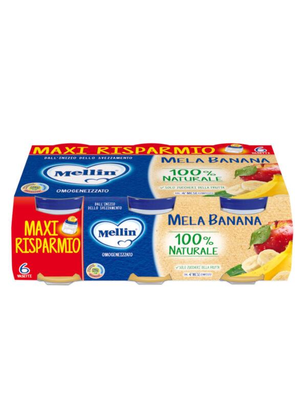 MELLIN Omogeneizzato mela banana 6x100 gr - MELLIN - Omogeneizzato frutta
