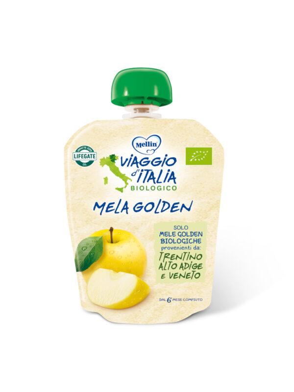 MELLIN - Pouch bio mela golden 90 gr - MELLIN- VIAGGIO D' ITALIA - Merende da bere