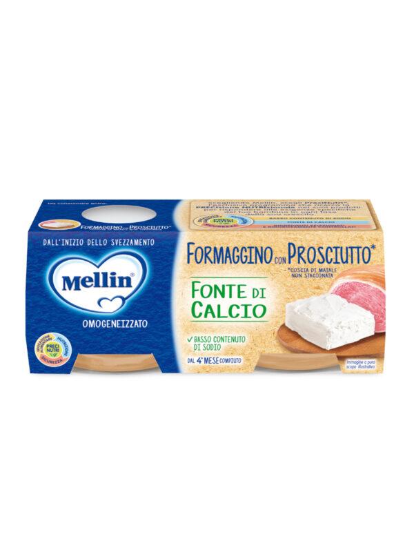 MELLIN formaggino prosciutto 2x80 gr - MELLIN - Omogeneizzato formaggio