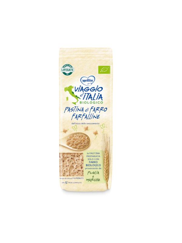 MELLIN - Bio pasta farfalline farro 320 gr - MELLIN- VIAGGIO D' ITALIA - Pastine per bambini