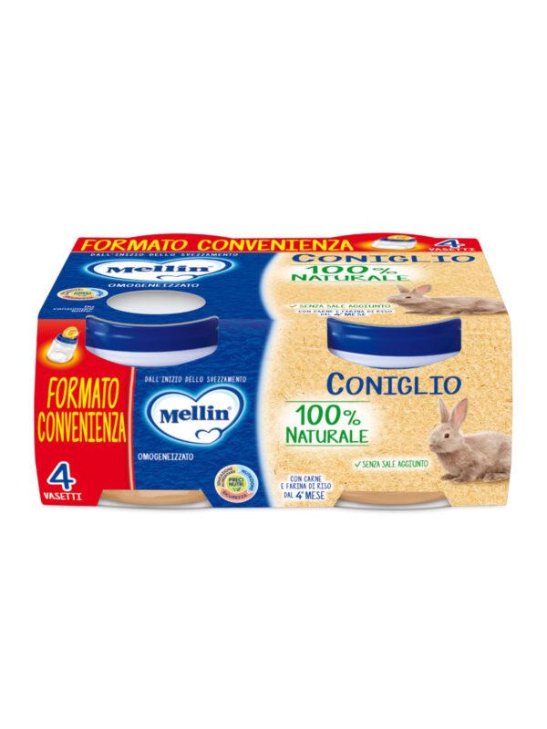 MELLIN Omogeneizzato coniglio 4x80 gr - MELLIN - Omogeneizzato carne