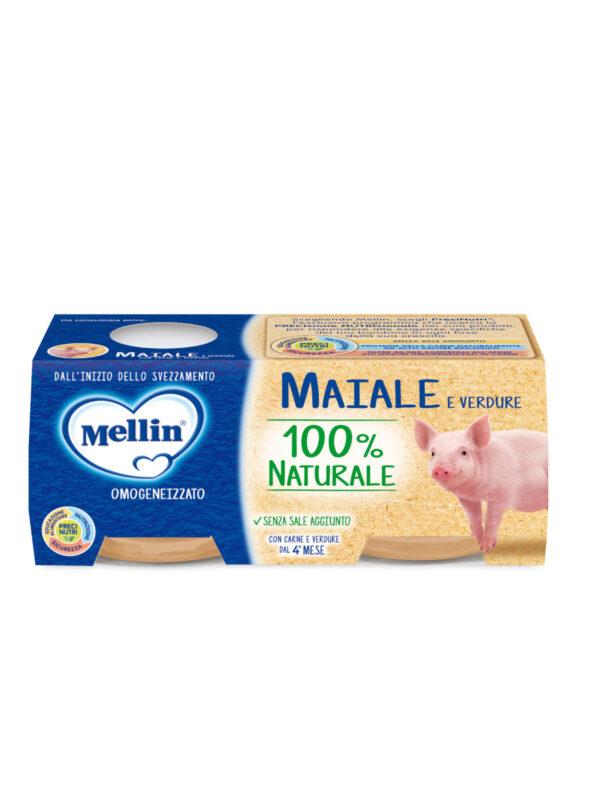 MELLIN Omogeneizzato maiale con verdure 2x80 gr - MELLIN - Omogeneizzato carne