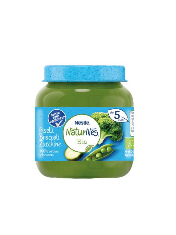 NATURNES - Omogeneizzato piselli broccoli zucchine 125 gr - NATURNES BIO - Omogeneizzato verdure
