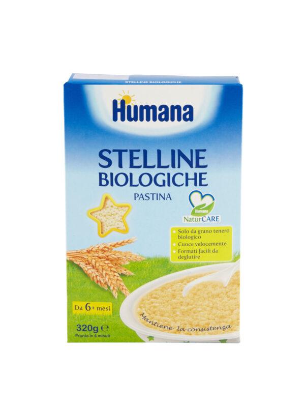 HUMANA Pastina stelline biologiche 320 gr - HUMANA - Pastine per bambini