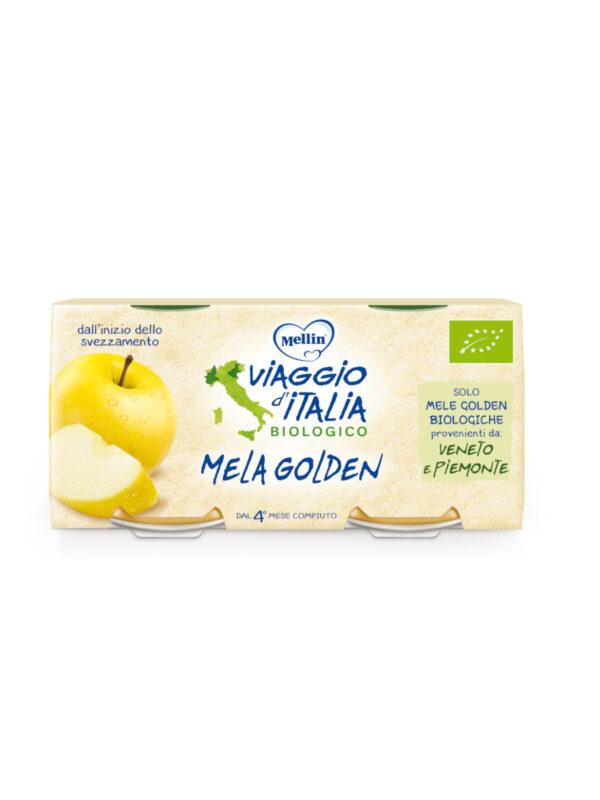 MELLIN - Bio mela golden 2x100 gr - MELLIN- VIAGGIO D' ITALIA - Omogeneizzato frutta