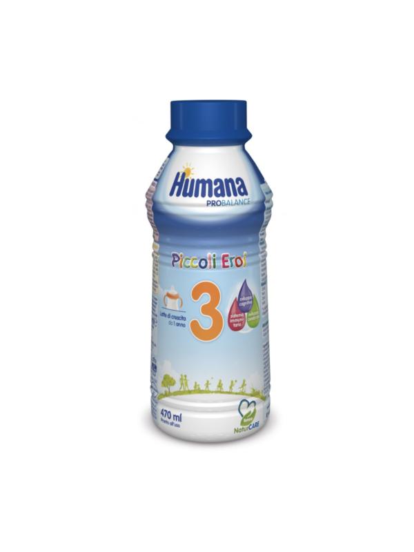 HUMANA  Latte 3 liquido 470 ml - HUMANA - Latte crescita 3-4-5