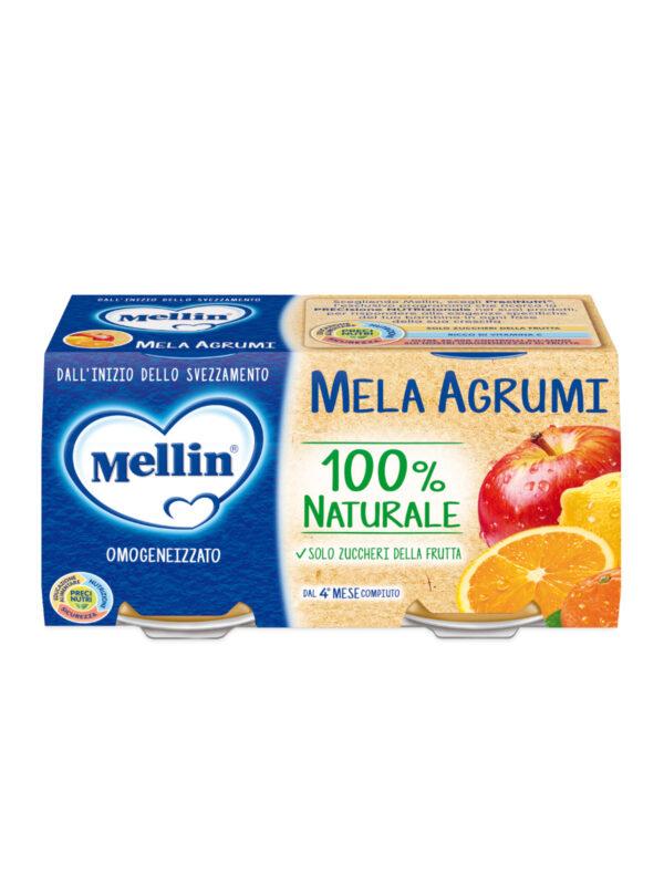 MELLIN Omogeneizzato mela arancia 2x100 gr - MELLIN - Omogeneizzato frutta