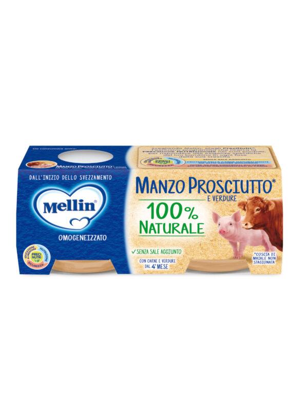 MELLIN Omogeneizzato manzo prosciutto con verdure 2x80 gr - MELLIN - Omogeneizzato carne